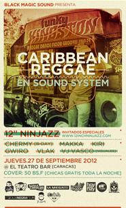 BMS presenta: Caribbean Reggae en SoundSystem en El Teatro Bar
