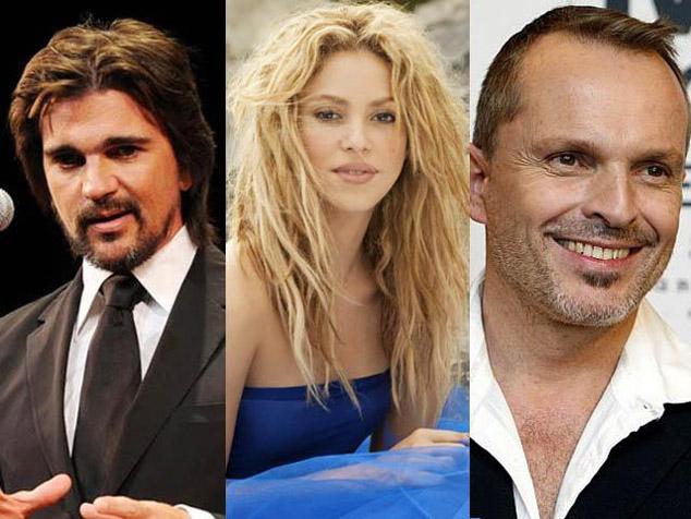 imagen Juanes, Miguel Bosé y Shakira, periodistas por la paz durante un día