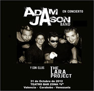 Adam Jason Band y The Lara Proyect en Valencia