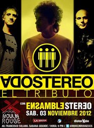 Tributo a Soda Stereo en el Moulin Rouge
