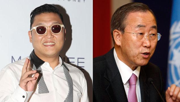 """imagen Ban Ki-moon siente """"celos"""" del éxito del rapero PSY y su """"Gangnam Style"""""""
