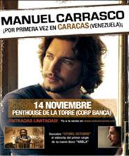 Manuel Carrasco en Caracas