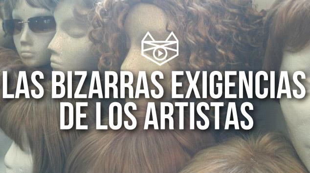 imagen INFOGRAFÍA: Las Bizarras Exigencias de los Artistas