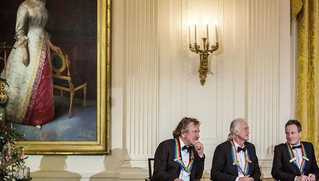 imagen Led Zeppelin es condecorado por Barack Obama