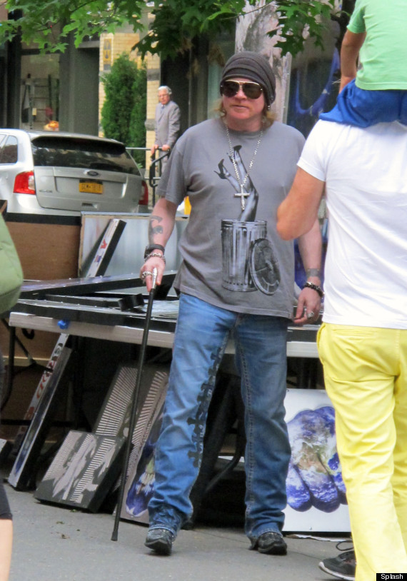Axl Rose sighting in SoHo, NYC
