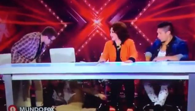 """imagen Belinda cogió piso en """"El factor X"""" (VIDEO)"""