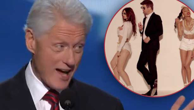 "imagen Bill Clinton canta ""Blurred Lines"" de Robin Thicke (VIDEO)"