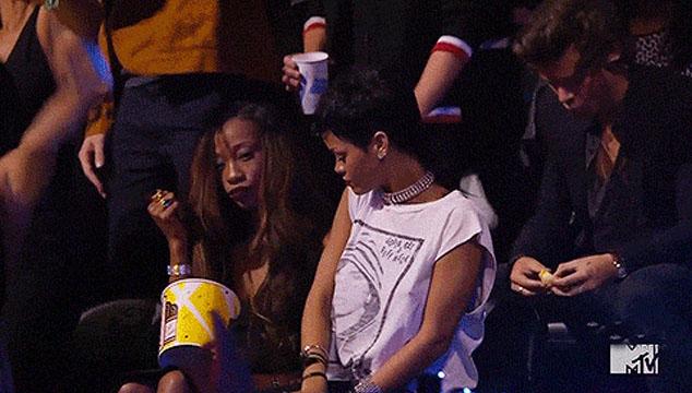 imagen Lo que no se vio en la pantalla de MTV durante los VMA's 2013