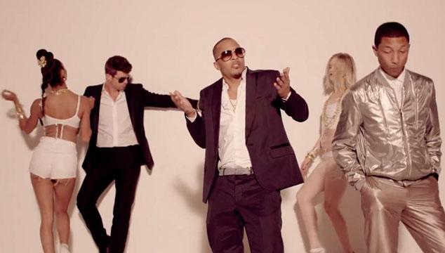"imagen Robin Thicke, Pharrell Williams y T.I. podrían ser demandados por fusilarse ""Blurred Lines"""