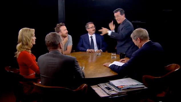 imagen Stephen Colbert se las arregla luego de ser plantado por Daft Punk (VIDEO)