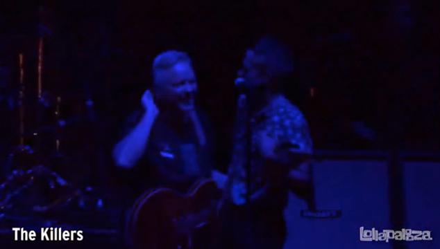 imagen The Killers y Bernard Summer, fundador de New Order, tocan juntos en el Lollapalooza