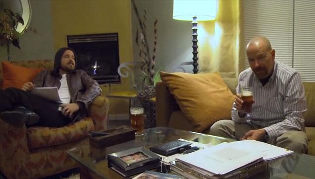 imagen Aaron Paul y Bryan Cranston leyendo el guión del episodio final de Breaking Bad (VIDEO)