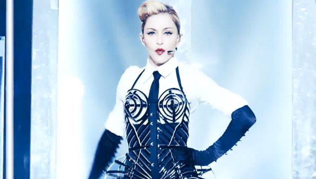 """imagen Madonna publica video en vivo de """"Vogue"""" extraído de su próximo DVD 'MDNA Tour'"""