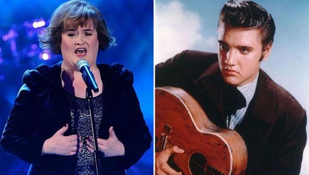 imagen Susan Boyle grabará tema a dúo con Elvis Presley