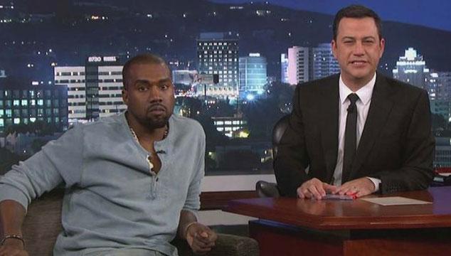 imagen Kanye West arregla sus problemas con Jimmy Kimmel en su programa de televisión (VIDEO)
