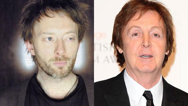 imagen Paul McCartney sueña con trabajar con Thom Yorke pero le da nervios que lo rechace