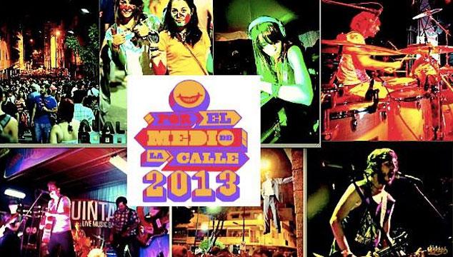 imagen Revelan las 20 bandas que tocarán en Por el Medio de la Calle 2013