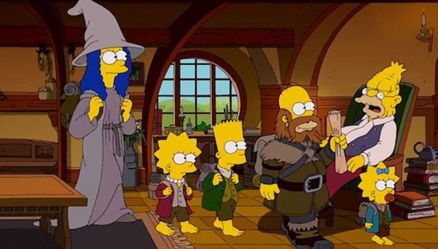 imagen Publican el intro de 'Los Simpsons' inspirado en 'El Hobbit' (VIDEO)