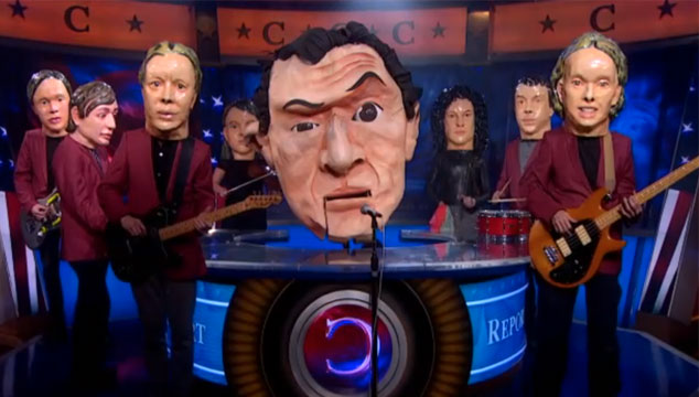imagen Arcade Fire tocó dos temas de su nuevo disco como 'The Reflektors' en 'The Colbert Report' (VIDEOS)