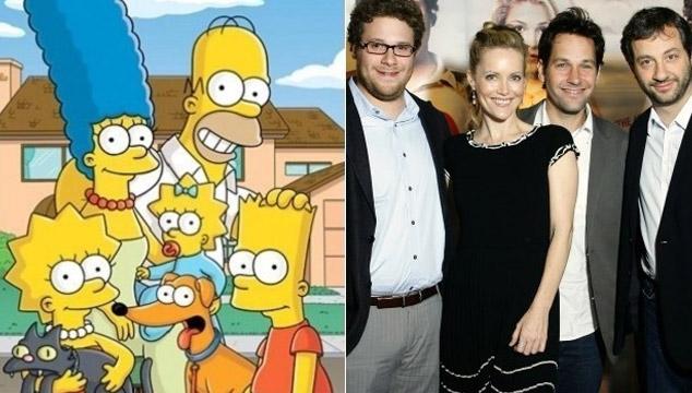 imagen Rob Halford, Judd Apatow, Paul Rudd, Seth Rogen y más aparecerán en Los Simpsons
