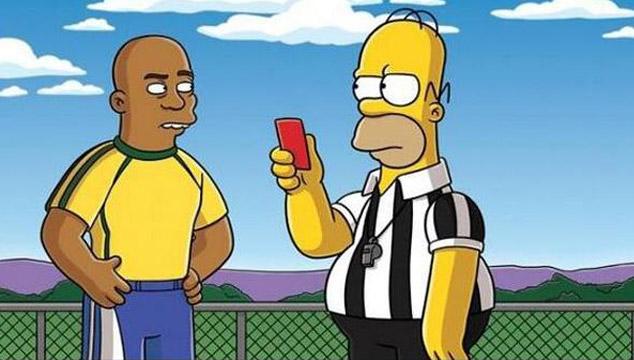 imagen Homero Simpson 'arbitrará' en el Mundial de Brasil 2014