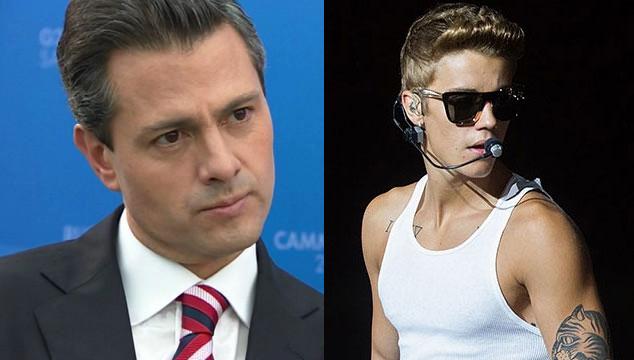 imagen Presidente de México niega en Twitter haber conocido a Justin Bieber