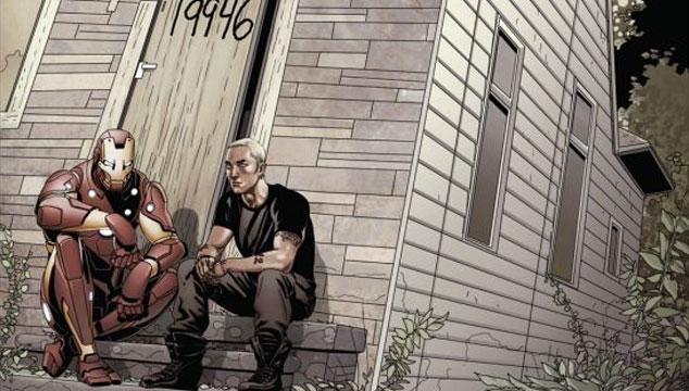 imagen Iron Man y Eminem se unen en la portada de un cómic (IMAGEN)