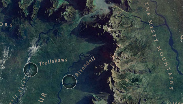 imagen Estrenan un Google Maps de la Tierra Media de 'El Hobbit'