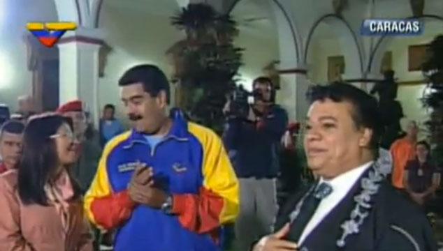 """imagen Juan Gabriel le canta """"Las Mañanitas"""" al presidente Nicolás Maduro (VIDEO)"""