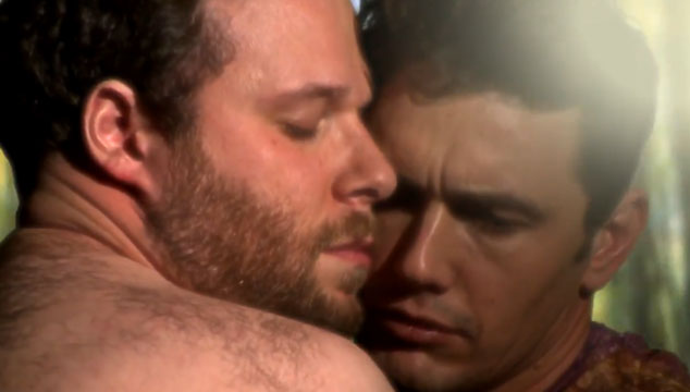 "imagen James Franco y Seth Rogen recrean el nuevo video de Kanye West, ""Bound 2"""