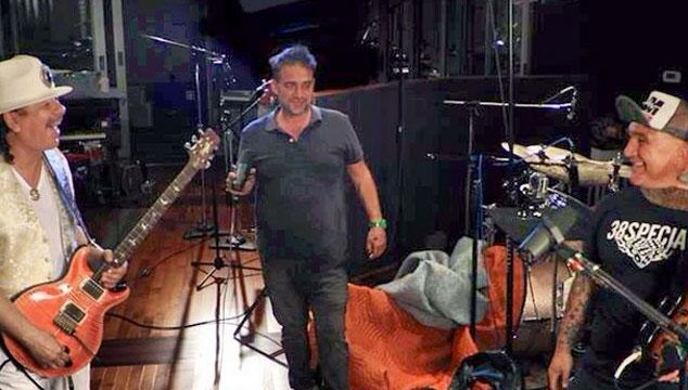 imagen Los Fabulosos Cadillacs están grabando con Carlos Santana (FOTO)