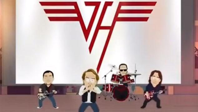 imagen Van Halen celebra la paz mundial tocando en 'South Park' (VIDEO)