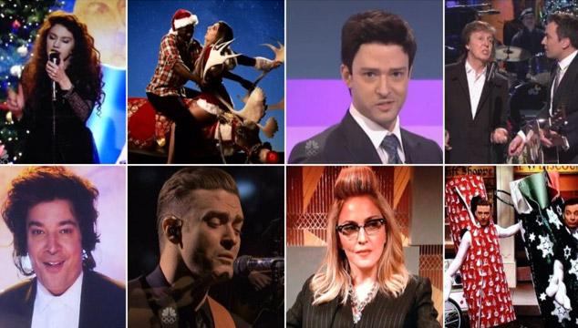imagen Justin Timberlake, Paul McCartney, Lorde, Kanye West, Madonna y más en el episodio navideño de 'SNL' (VIDEOS)
