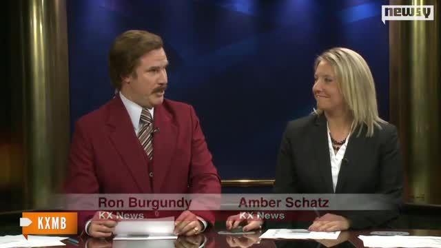 imagen Will Ferrell como Ron Burgundy hace un noticiero real en Dakota del Norte