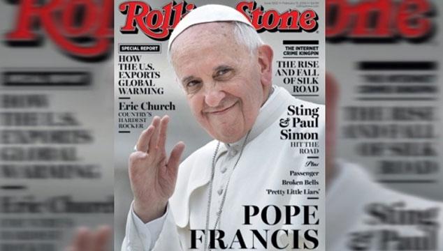 imagen El Papa Francisco es la portada de la revista Rolling Stone