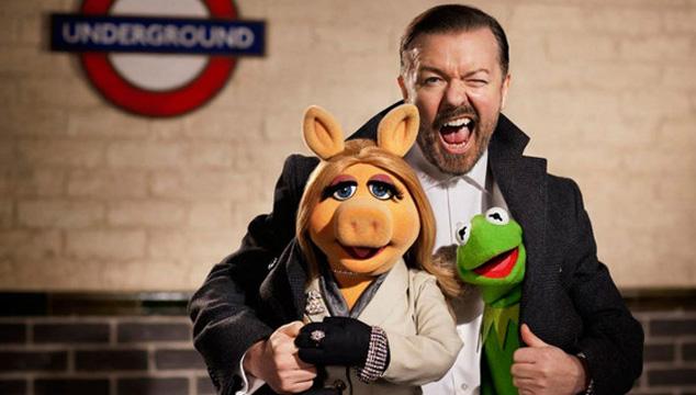 imagen Tráiler de la nueva película de Los Muppets con Ricky Gervais y Tina Fey