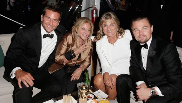 imagen Bradley Cooper y Leonardo DiCaprio rumbearon después de los Golden Globes… con sus mamás