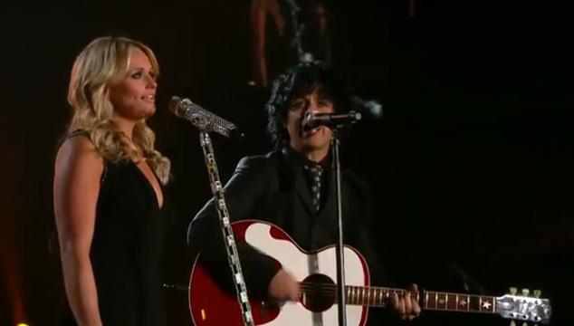 imagen Billie Joe Armstrong & Miranda Lambert en vivo desde los Grammy (VIDEO)