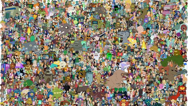 imagen Todos los personajes de 'Futurama' en una sola foto