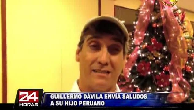 imagen Guillermo Dávila envía un mensaje de navidad a su hijo peruano no reconocido