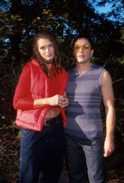 Brooke Shields and Robert Downey Jr