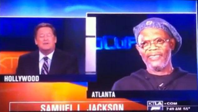 """imagen Samuel L. Jackson """"destruye"""" a un entrevistador en vivo por confundirlo con Laurence Fishburne (VIDEO)"""