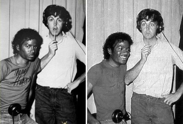 MIchael Jackson and Paul Macartney