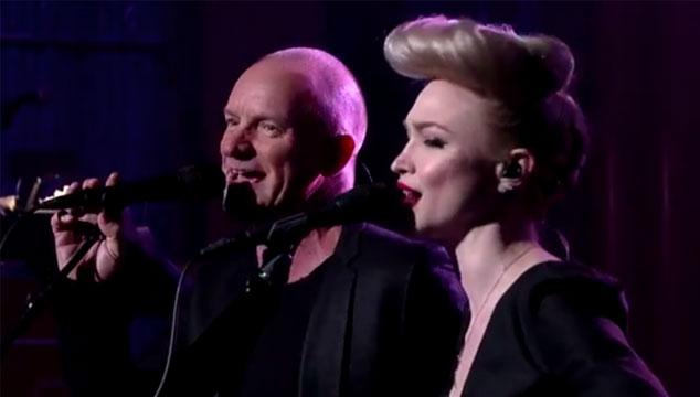 "imagen Sting versiona ""Ride my car"" de The Beatles en el show de David Letterman (VIDEO)"