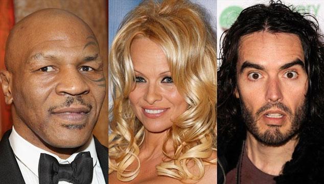 imagen Mike Tyson, Pamela Anderson y Russell Brand actuarán juntos