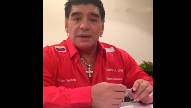 imagen Maradona se suma al equipo de Telesur y muestra su apoyo a Nicolás Maduro
