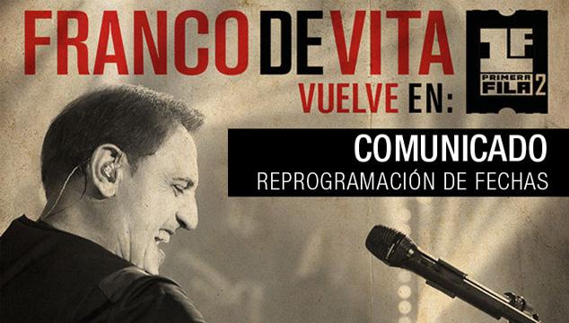 imagen Franco de Vita reprogramará su gira por Venezuela (COMUNICADO OFICIAL)