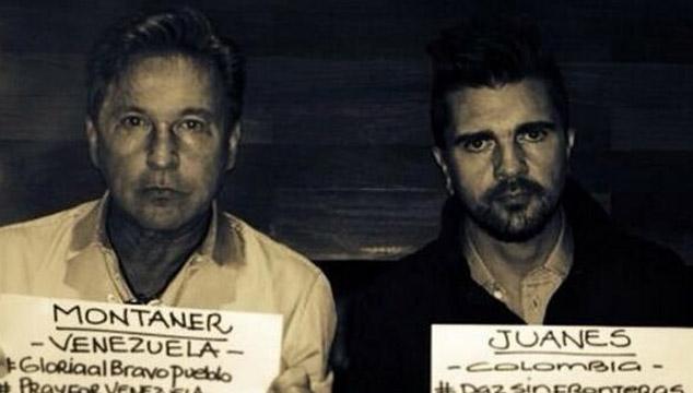 imagen Juanes y Ricardo Montaner se unen para enviar un mensaje a Venezuela (FOTO)