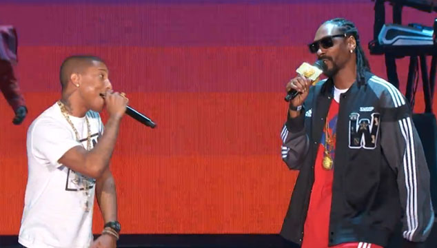 imagen La presentación de Pharrell, Snoop Dog, Diddy, Gary Clark Jr. y más en el juego de las estrellas de la NBA