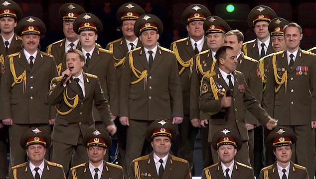 """imagen El coro policial de Rusia versiona """"Get Lucky"""" en la apertura de los Juegos Olímpicos de Invierno (VIDEO)"""